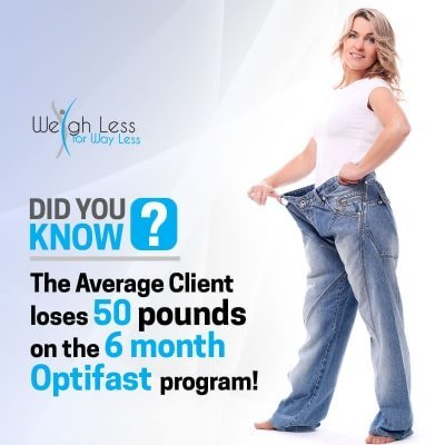 woman with big pants - lose 50 pounds in 6 months - optifast chicago