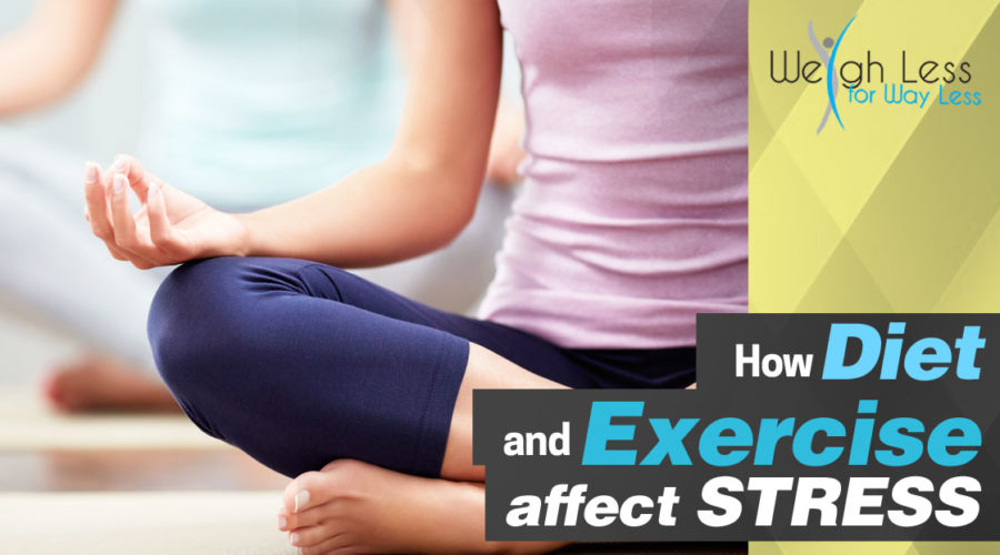 How Diet and Exercise Affect Stress- Weigh Less for Way Less